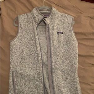Women's gray Patagonia vest. Size large